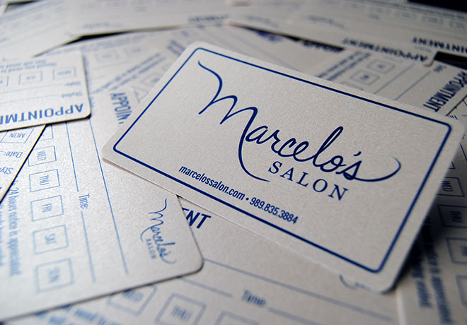 Marcelos Salon Appointment Cards