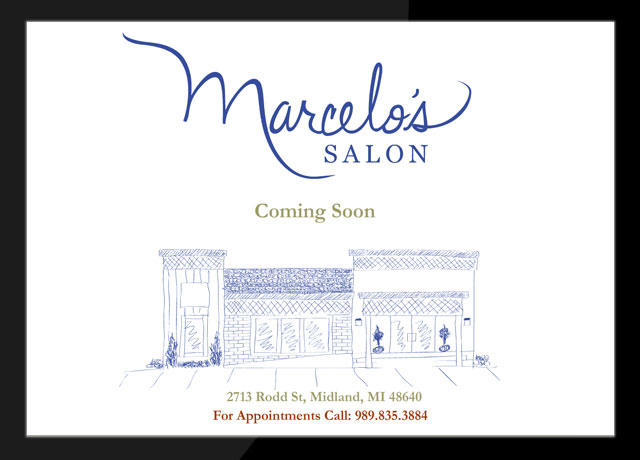 Marcelos Salon Coming Soon Landing Page