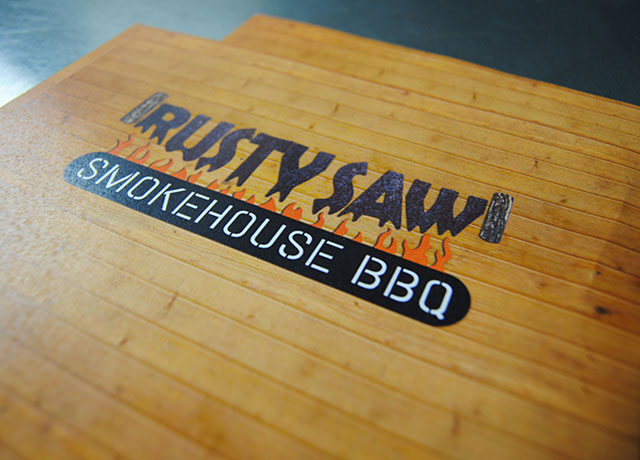 Rusty Saw Smokehouse BBQ Logo