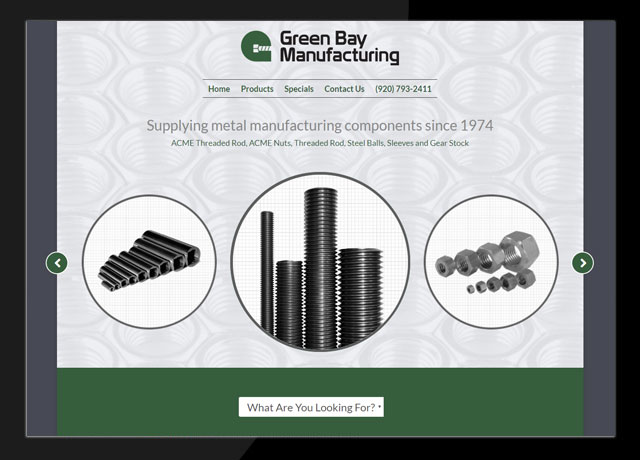 Green Bay Manufacturing Website