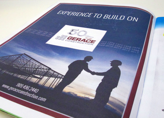 Gerace Construction Print Ad