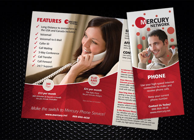 Mercury Network Phone Services Brochure