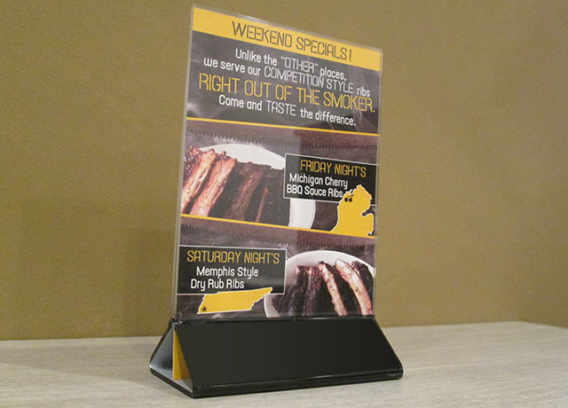 Rusty Saw Smokehouse Table Tent