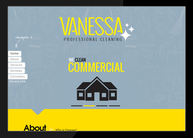 Vanessa Professional Cleaning Website